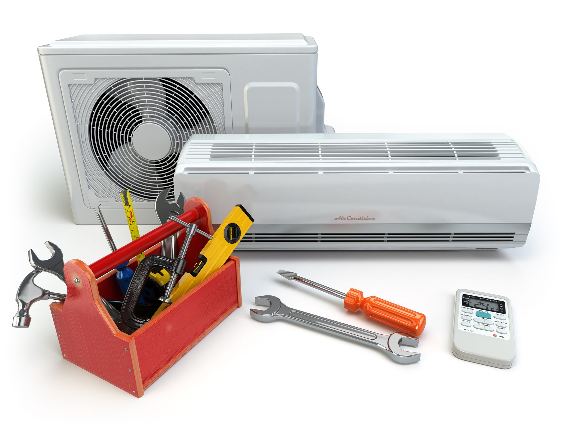Air Conditioning system and tools for ac and duct repair services